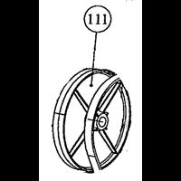 Poulie pour bétonnière B165 Altrad 184012