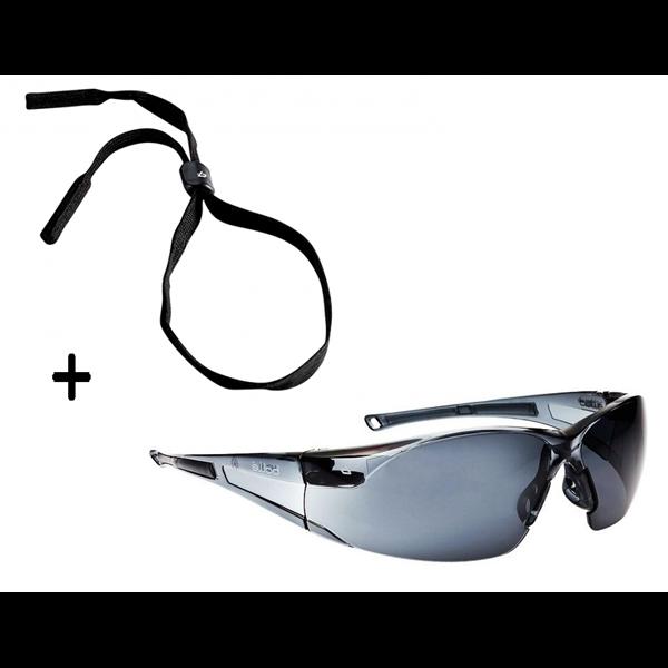 lunette de s curit rush boll fum e transparent noir rushpsf. Black Bedroom Furniture Sets. Home Design Ideas