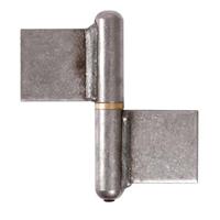 Paumelle grille soudée nœuds arrondis acier bague laiton 60 mm 35 kg