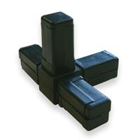 Raccord pour tube carré Alu Type 4 - 20 x 20 mm - lot de 2 CQFD 2004-7008