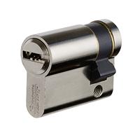 Cylindre simple européen Vachette Velix nickelé avec 5 clés - 30 x 10 mm