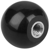 5 Boutons sphériques à trou conique noir M10x40 Fabory 56915100040