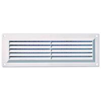 Grille ventilation persiennes intérieur-extérieur moustiquaire165 x86 mm