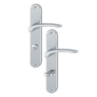 Poignée porte clé en L Ibiza Hoppe alu chromé porte 40-46 mm carré 7mm