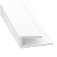 Profilé de finition pour panneaux en PVC blanc - épaisseur 3.5 mm - longueur 1 mètre CQFD 2002-8204