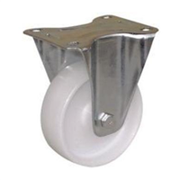 Roulette sur platine fixe polypropylène blanche diamètre 50 mm 23015 PRODIF-SOMEC 023015