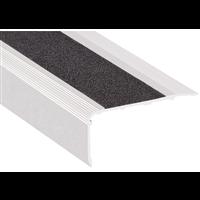 Bord sifflet aluminium incolore avec bande antidérapante noire 36 mm longueur 3.00 m : Romus 1390