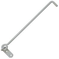 Crochet à crémaillère sur platine aluminium blanc Torbel longueur 300 mm