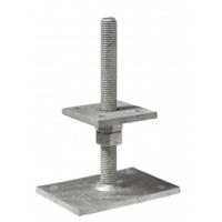 Pied de poteau réglable de 40 à 180 mm platine 80 x 80 mm