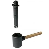 Gond Polygond avec circlips Torbel noir axe en acier zingué gond Ø 14 mm