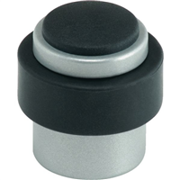 Butée de porte au sol Vachette 3737C nylon Arcolor gris avec amortisseur