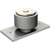 Guide du bas 1059 Mantion olive nylon diamètre 50 mm sur cage à rouleaux