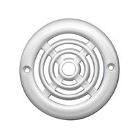 Grilles de ventilation en plastique rondes - 64 mm - Blanc - Lot de 4