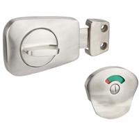Verrou targette pour WC et salle de bains porte de 40 mm Thirard 909035
