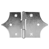 Charnière décorative percée CQFD 70x70x80 mm - acier zingué