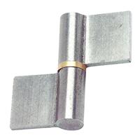 Paumelle de grille profilée Clémenson axe acier brut 60 mm x 38,5 mm