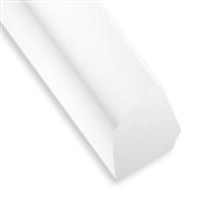 Profilé quart de rond en PVC blanc - 12 x 12 mm - longueur 2.6 mètres CQFD 2032-04