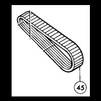 Courroie 9-374 pour rainureuse Makita 3800 NA 225003-5