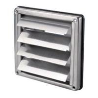 Grille de ventilation métallique à volet - ø 100 mm - Inox