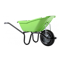 Brouette Pro Select Pick Up 110 litres verte roue gonflée charge utile 160 kg