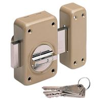 Verrou à bouton en applique cylindre 30 mm - pêne 110 mm 16121000