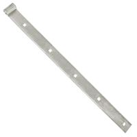 Penture droite percée acier blanc Torbel gond 16 mm longueur 1000 mm