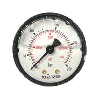 """Manomètre 250 bar 63 mm 1/4"""" pour nettoyeur Kranzle K160TST 195TST  135"""