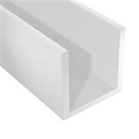 Profilé U en PVC blanc CQFD - largeur 12 mm - hauteur 10 mm - longueur 1 m 2002-68252