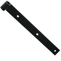 Penture droite Torbel NF acier noir 35 x 5 mm gond 14 mm longueur 300 mm