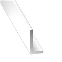 Cornière inégale - Aluminium laqué blanc - 30 x 20 mm - épaisseur 1.5 mm - longueur 1 m CQFD 2043-5334