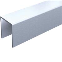 Profil U en aluminium de 25 x 18 mm longueur 2 m Mantion 1109A/200