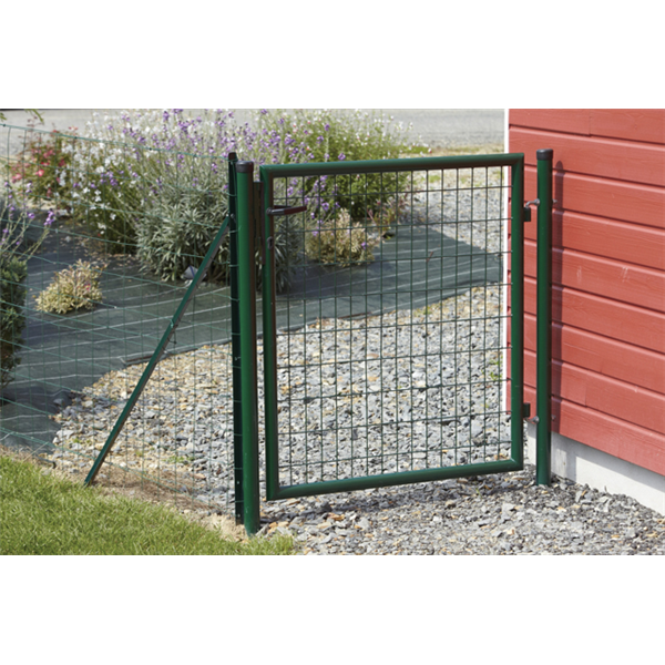 Portillon eco garden double sens sceller vert ral 6005 for Portillon largeur 1m50
