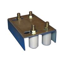 Guide supérieur extensible double avec 4 olives nylon pour tube de 40 à 60 mm Mantion 1065