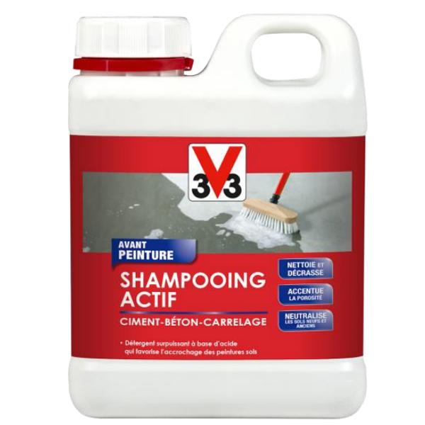 Shampooing actif avant peinture ciment béton carrelage 500 ml V33