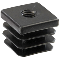 Douille carrée 25 polyéthylène noir Taraudée M10 PRODIF-SOMEC E4075