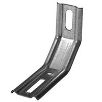 Équerre fixation nervurée CQFD 3 pans 70x55x30mm épaisseur 1,5mm acier