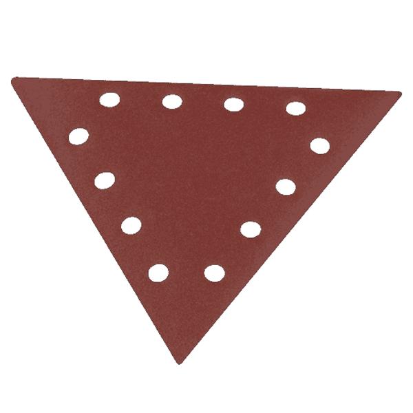 10 Pi/èces SCHEPPACH Papier Abrasif Triangulaire pour Meuleuses Scheppach DS210 et DS930 Grain 100 280mm