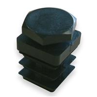 Embout carré pied ajustable pour tube - noir - 20 x 20 mm - lot de 4 CQFD 2004-7602