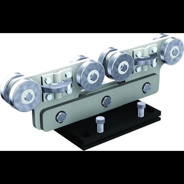 monture acier 8 galets roulement billes pour rail 9060 mantion 9968s. Black Bedroom Furniture Sets. Home Design Ideas