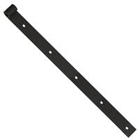 Penture droite percée noir Torbel gond 16 mm longueur 1000 mm