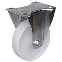 Roue polyamide blanc sur chape inox diamètre 200 mm : PRODIF-SOMEC 023673