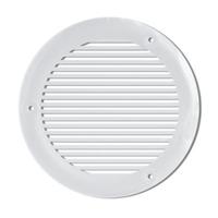 Grille de ventilation ronde intérieure / extérieure - Ø 103 mm - Blanc