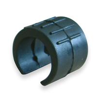 Patin pour tube rond en alu - noir - diamètre 16 mm - lot de 4 CQFD 2004-8602