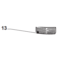 Grille pour aspirateur m445X repère 13 Makita 50170B8A 3240890732217