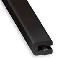 Profil U pour entourage tôle en PVC noir - 7 x 4 x 2 mm - longueur 1 mètre CQFD 2002-68308