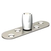 Guide sol pour vantaux rainurés platine inox 25 x 17 mm Mantion 1102XA2