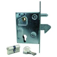 Serrure à crochet cylindre axe de 60 mm carré de 8 mm Mantion 0954