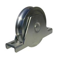Roue acier à gorge ronde 20mm Ø120mm moyeu 37mm PRODIF-SOMEC F966