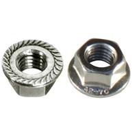 Écrou hexagonal cranté DIN 6923 Inox A2 diamètre 6 mm Acton 626096