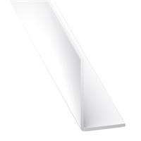 Cornière d'angle inégale PVC blanche - 10 x 20 mm - longueur 1 mètre CQFD 2002-68710